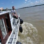 MS Sydney in den Wellen des Rheins
