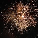 Feuerwerk am Weinfest in Breisach