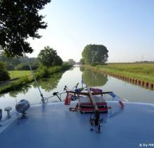Morgenstimmung auf dem Kanal