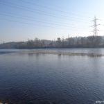Niedrigwasser Aare bei Böttstein